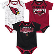 NFL Team Apparel Infant Arizona Cardinals Playmaker 3-Piece Onesie Set