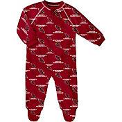 NFL Team Apparel Infant Arizona Cardinals Raglan Zip-Up Coverall
