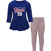 NFL Team Apparel Infant Girls' New York Giants Pants/Top Set