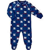 NFL Team Apparel Infant New York Giants Raglan Zip-Up Coverall