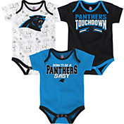 NFL Team Apparel Infant Carolina Panthers Playmaker 3-Piece Creeper Set