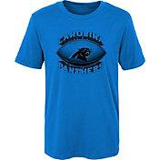 NFL Team Apparel Boys' Carolina Panthers Satellite Black T-Shirt