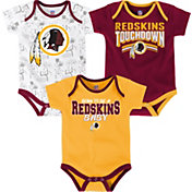 NFL Team Apparel Infant Washington Redskins Playmaker 3-Piece Creeper Set