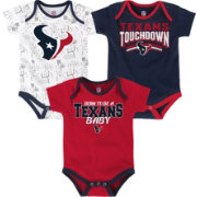 NFL Team Apparel Infant Houston Texans Playmaker 3-Piece Onesie Set