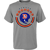 NFL Team Apparel Youth Denver Broncos Cannon Grey T-Shirt