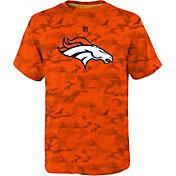 NFL Team Apparel Youth Denver Broncos Vector Camo Dri-Tek T-Shirt