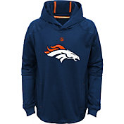 NFL Team Apparel Youth Denver Broncos Mach Pullover Hoodie