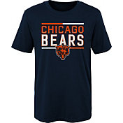 NFL Team Apparel Boys' Chicago Bears Flag Runner Navy T-Shirt