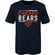 NFL Team Apparel Boys' Chicago Bears Flag Runner Navy T-Shirt