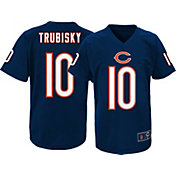 NFL Team Apparel Youth Chicago Bears Mitchell Trubisky #10 Performance Navy T-Shirt
