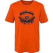 NFL Team Apparel Boys' Chicago Bears Satellite Orange T-Shirt