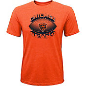 NFL Team Apparel Youth Chicago Bears Satellite Orange T-Shirt