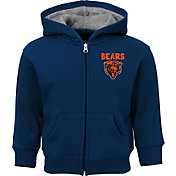 NFL Team Apparel Toddler Chicago Bears Red Zone Full-Zip Hoodie