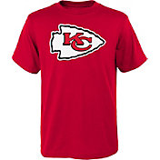 NFL Team Apparel Youth Kansas City Chiefs Logo Red T-Shirt