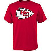 NFL Team Apparel Youth Kansas City Chiefs Logo Red T-Shirt