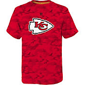 NFL Team Apparel Youth Kansas City Chiefs Vector Camo Dri-Tek T-Shirt