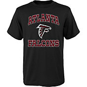 NFL Team Apparel Youth Atlanta Falcons Gridiron Black T-Shirt