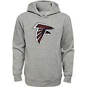 NFL Team Apparel Youth Atlanta Falcons Logo Grey Hoodie