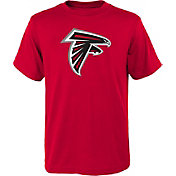 NFL Team Apparel Youth Atlanta Falcons Logo Red T-Shirt