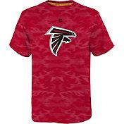 NFL Team Apparel Youth Atlanta Falcons Vector Camo Dri-Tek T-Shirt