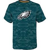 NFL Team Apparel Youth Philadelphia Eagles Vector Camo Dri-Tek T-Shirt