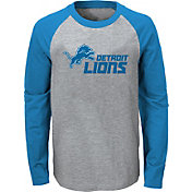 NFL Team Apparel Youth Detroit Lions Field Line Long Sleeve T-Shirt