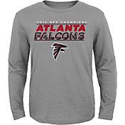 NFL Team Apparel Youth NFC Champions Atlanta Falcons Leveled Up Long Sleeve Shirt