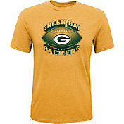 NFL Team Apparel Youth Green Bay Packers Satellite Gold T-Shirt