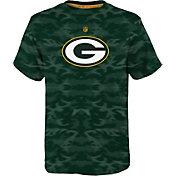 NFL Team Apparel Youth Green Bay Packers Vector Camo Dri-Tek T-Shirt