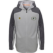 NFL Team Apparel Youth Green Bay Packers Delta Full-Zip Jacket