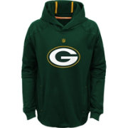 NFL Team Apparel Youth Green Bay Packers Mach Pullover Hoodie