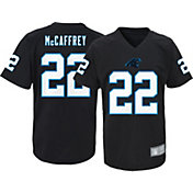 NFL Team Apparel Youth Carolina Panthers Christian McCaffrey Performance Black T-Shirt