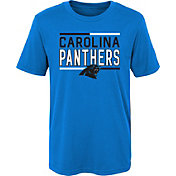 NFL Team Apparel Boys' Carolina Panthers Flag Runner Black T-Shirt