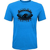NFL Team Apparel Youth Carolina Panthers Satellite Black T-Shirt