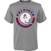 NFL Team Apparel Youth New England Patriots Cannon Grey T-Shirt