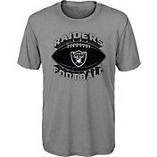 NFL Team Apparel Youth Oakland Raiders Satellite Grey T-Shirt