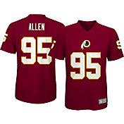 NFL Team Apparel Youth Washington Redskins Jonathan Allen #95 Performance Red T-Shirt