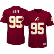 NFL Team Apparel Youth Washington Redskins Jonathan Allen #95 Performance Red T-Shirt