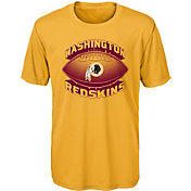NFL Team Apparel Youth Washington Redskins Satellite Gold T-Shirt