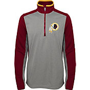 NFL Team Apparel Youth Washington Redskins Matrix Quarter-Zip Fleece Pullover