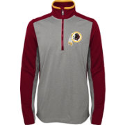 NFL Team Apparel Youth Washington Redskins Matrix Quarter-Zip Fleece Pullover
