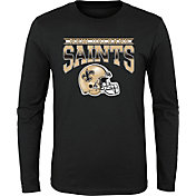 NFL Team Apparel Youth New Orleans Saints 'Go Get Em' Long Sleeve Black Shirt