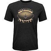NFL Team Apparel Youth New Orleans Saints Satellite Black T-Shirt