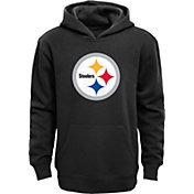 NFL Team Apparel Youth Pittsburgh Steelers Logo Black Hoodie