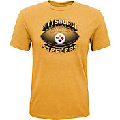 NFL Team Apparel Youth Pittsburgh Steelers Satellite Gold T-Shirt