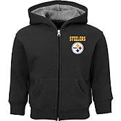NFL Team Apparel Toddler Pittsburgh Steelers Red Zone Full-Zip Hoodie