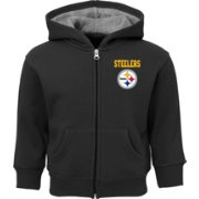 NFL Team Apparel Toddler Pittsburgh Steelers Red Zone Full-Zip Hoodie