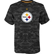 NFL Team Apparel Youth Pittsburgh Steelers Vector Camo Dri-Tek T-Shirt