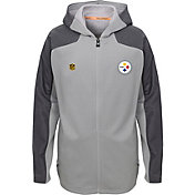 NFL Team Apparel Youth Pittsburgh Steelers Delta Full-Zip Jacket
