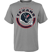 NFL Team Apparel Youth Houston Texans Cannon Grey T-Shirt